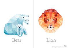 ABC Print Alphabet poster abc animals Animal by tinykiwiprints