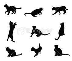 KittenLife Royalty Free Stock Vector Art Illustration for Amanda Garrett Wall Stencil Patterns, Domestic Cat, Silhouette Vector, Free Vector Art, Kitten, Royalty, Cats, Illustration, Character