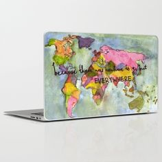 wanderlust+Laptop+&+iPad+Skin+by+Eliza+L+-+$30.00