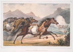 Charge de cavalerie Gouaycourous. From New York Public Library Digital Collections.
