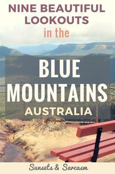 A guide to nine beautiful lookouts in the Blue Mountains National Park, Sydney, Australia, with maps and directions. Explore Katoomba, Leura, Wentworth Falls & Blackheath, including Echo Point lookout and the Three Sisters rock formation. #BlueMountains #Sydney #Australia #SunsetsandSarcasm