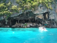 Viking Cave and bird's net here on the way to Phi Phi Island