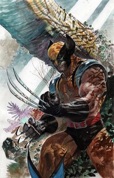 Wolverine in Forest by ardian-syaf on DeviantArt Marvel Wolverine, Marvel Comics, Hq Marvel, Logan Wolverine, Marvel Heroes, Wolverine Images, Batgirl, Comic Books Art, Comic Art