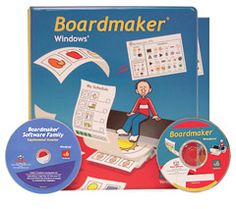 The boarmaker windows, this software package is used to create a variety of line-drawings and symbolic representations of ideas that are frequently used in communication. In classrooms, they can be used to help students understand basic concepts and communication their needs and wants.