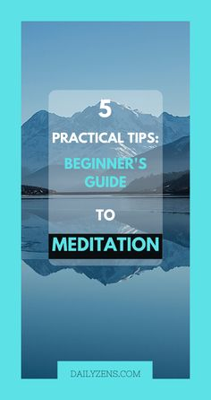 These Meditation tips for beginners will help you set the right expectations and work through the most common obstacles you may encounter. #Meditation #Mindfulness #Tips #Wellness #Life #MentalHealth