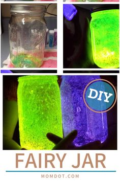 Learn how to make this delightful and easy fairy jar for kids with a quick tutorial and great tips for getting it just right. They're almost as magical as a fairy itself! Diy Crafts For Teens, Diy Crafts To Sell, Diy For Kids, Fun Crafts, Mason Jar Crafts, Mason Jar Diy, Fairy Glow Jars, Fairy House Crafts, Glow Crafts
