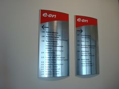 Navigation signs, boards, name holders, systems