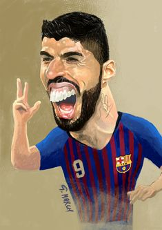 Funny Caricatures, Celebrity Caricatures, Funny Faces Images, Funny Pictures, Funny Soccer Memes, Walking With Dinosaurs, Joker Pics, Laughing Emoji, Football Images