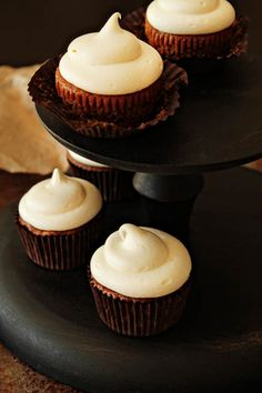 #Pumpkin Ginger #Cupcakes with #Ginger #Cream #Cheese #Frosting #Fall Flavors #Baking #Foods