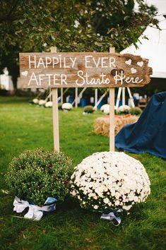 Cute wedding sign.
