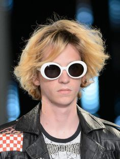 us: FEISEDY Clout Goggles Kurt Cobain Sunglasses Acetate White Frame Pink Lens Sunglasses & Eyewear Glasses Frames Trendy, Eyewear Trends, Men's Eyewear, Fashion Eyewear, Mens Glasses, Glasses Style, Stylish Outfits, Stylish Clothes, Eyeglasses For Women