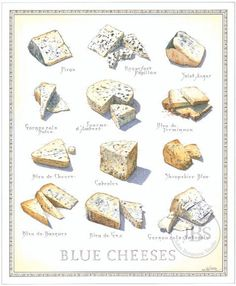 John Burgoyne. Regional cheeses, as well as goat and blue. These artistic illustrations worked well as a reference during my cheese 101 course.