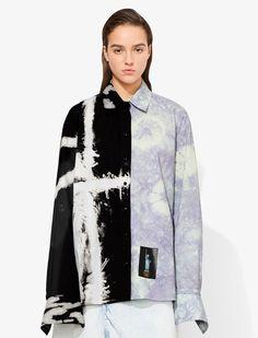 BLACK/LIME Natural (Veg)->Cotton Tie Dye Shirt from Proenza Schouler. Kimono Fashion, Fashion Outfits, Sport Fashion, Tie Dye Jackets, Denim Belt, Tie Dye Shirts, Stage Outfits, Junior Outfits, Tye Dye