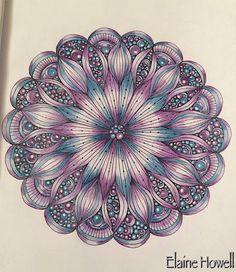 Mandala I've just completed from Creative Mandalas