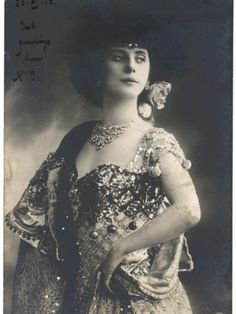 Anna Pavlova Russian Ballet Dancer in an Ornate Costume in 1910 Photographic Print