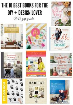 The 10 Best DIY and Design Books that should be on your 2015 Christmas Gift List!