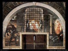 Raffaello Sanzio: Liberazione di San Pietro, affresco, 1513-1514, stanze vaticane