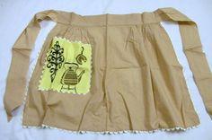 Vintage delantal delantal marrón delantal por VintagePlusCrafts