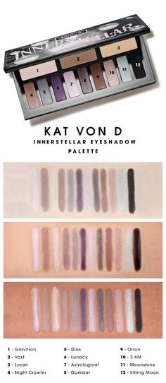 We swatched the Kat Von D Innerstellar Eyeshadow Palette to see how the colors looked on different skin tones.  What do you think? #Sephora #swatches