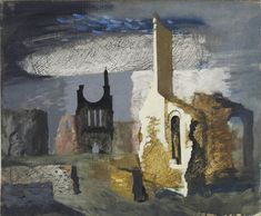 JOHN PIPER  Byland Abbey Oil on canvas laid on panel Signed and titled (verso) 20 x 24 ins
