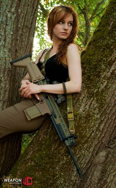 Model: Ethereal Rose  Gun: FNH SCAR 17S, lightweight, accurate, and reliable 7.62 NATO battle rifle. Holy trifecta