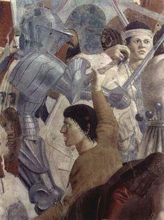 Piero della Francesca, Battaglia di Eraclio e Cosroè (particolare), c. 1455, affresco, 329 x 747 cm, Basilica di San Francesco, Arezzo