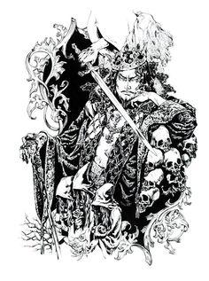 Santa Lilio Sangre - Ayami Kojima History Of Illustration, Illustrations, Castlevania, Knight In Shining Armor, Book Characters, Love Art, Fantasy Art, Final Fantasy, New Art