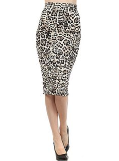 Lovely In Leopard High Waist Skirt at ShopPlasticland.com