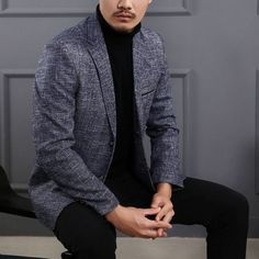 Men casual Blazers Homme Blazer Masculina 2017 new spring Fashion Outerwear Coat Dress Jacket middle-aged two buckle suit