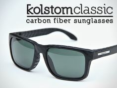 Kolstom Classic carbon fiber sunglasses on Kickstarter