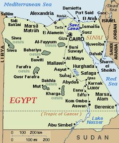 Egypt Map Egypt Profile History Government Economy Population - Map of egypt with major cities