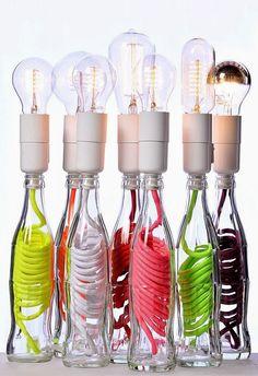 ECOMANIA BLOG: Lámparas Recicladas Muy Curiosas