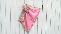 Personalized Baby Girl Blanket With Bubble Gum by MamaJamaQuilts