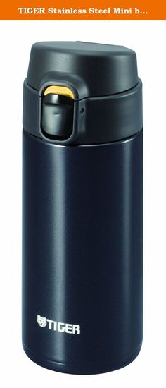 TIGER Stainless Steel Mini bottle <Saharamagu> lightweight dream gravity one push 0.36L Black MMY-A036-KP (japan import).