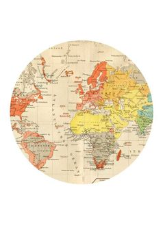 This is a fun and stylish IKEA clock hack. Using the ridiculously cheap IKEA Stomma clock, a world map, and some temporary tattoo paper. Vintage Maps, Antique Maps, World Map Printable, Free Printable, Ikea Clock, Temporary Tattoo Paper, World Clock, Clock Art, Artwork Images