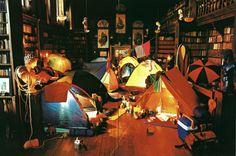 家の中でキャンプ