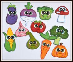 Moldes De Frutas Y Verduras En Goma Eva Imagui Foami Pinterest