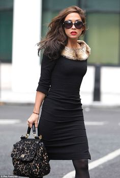 Myleene, looked immaculate as she headed into the Radio 2 studios, in central London wearing a truly classy outfit from her own clothing range.Myleene Klass looked sublime as she headed to the BBC Radio 2 studios, on Friday morning. Fur Fashion, Fashion Looks, Womens Fashion, Fashion Trends, Looks Street Style, Autumn Winter Fashion, Winter Style, Classy Outfits, What To Wear