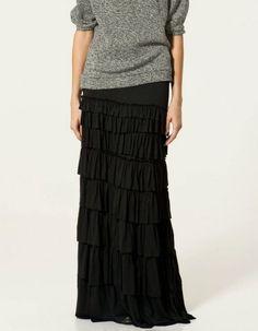 Cómo combinar las faldas largas en invierno