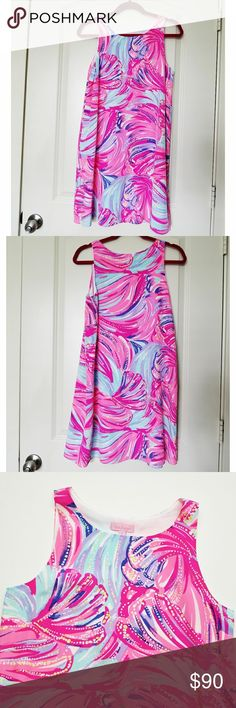NWOT Lilly Pulitzer Jackie silk shift size S I really need to stop buying LP dresses on sale - they never fit!  Dress have never been tried on but never worn. Tags got cut off out of excitement before deciding the dress doesn't fit. Print is Magenta Oh My Guava. Beautiful print, beautiful vibrant colors. Lilly Pulitzer Dresses