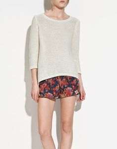 LONG BACK CABLE KNIT SWEATER - Knitwear - TRF - ZARA United States