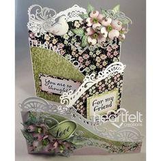 Heartfelt Creations - Pink Dogwood Foldout Card Project
