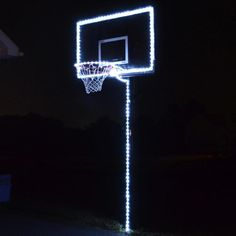 Have fun playing basketball at night with this LED lighting kit that can make your basketball hoop glow! Shop GlowCity for more light up sports equipment now. Basketball Rim, High School Basketball, Best Basketball Shoes, Basketball Goals, Soccer, Aesthetic Rooms, Blue Aesthetic, Light In The Dark, Light Up