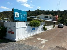 New signage for Te Tiriti Lodge, 7 Puketona Road, Paihia, Northland, New Zealand Bay Of Islands, Home And Away, Backpacking, Signage, Shed, Outdoor Structures, Backpacker, Billboard, Signs