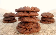 4 Ingredient Paleo Nutella Cookies- Ready in under 10 minutes and naturally Gluten Free, Grain Free and Vegan!
