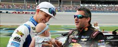 Trevor Bayne and Tony Stewart