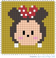 Over in the Two Hearts Crochet CALs group someone has asked about tsum tsum graphs. Being a massive Disney fan and avid tsum collector . Mickey Tsum Tsum, Mickey E Minie, Cross Stitch Alphabet, Cross Stitch Patterns, Stitch Tsum Tsum, Modele Pixel Art, Disney Alphabet, Perler Bead Disney, Pixel Crochet