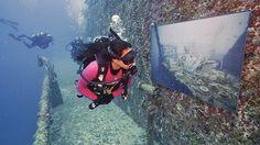 La colección exhibe 12 obras del fotógrafo Andreas Franke en un arrecife artificial de Florida hasta finales del mes de julio