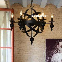 European Vintage Industrial Pendant Lights Fixture American Retro Candles Hanging Lamps Home Indoor Bed Room Foyer Droplights #Affiliate