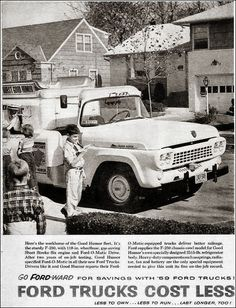 Ad for Ford Trucks, featuring a Good Humor ice cream truck